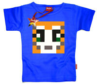 Kids Childrens Boys Girls Mr Stampy StampyLongNose T-Shirt Gift (Blue)
