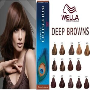 Details zu Wella Koleston Perfect Professional Permanent Hair Color Dye  Tint - DEEP BROWNS