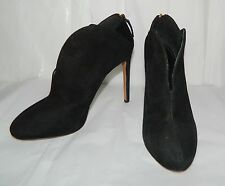 Nine West  Black SUEDE Leather Ankle Boot Stiletto heels womens sz 7.5