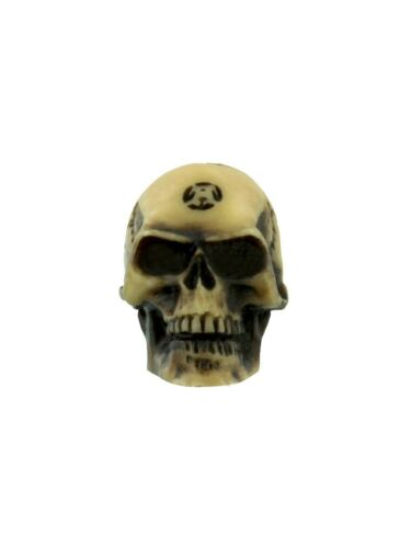 Alchemy Ornament Lapillus Worry Skull Cream 1.5x2.5x2cm