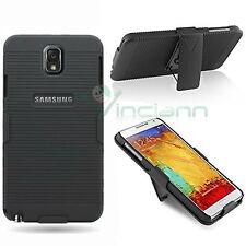 Cover Sliding Stand rigida NERA per Samsung Galaxy Note 3 N9005 clip custodia