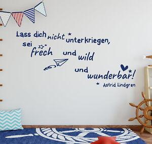 Details zu Wandtattoo Kinderzimmer Zitat Astrid Lindgren Baby Kinder Junge  Mädchen tk43