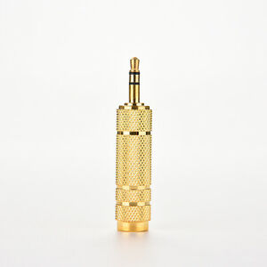 Gold-Stereo-3-5mm-Male-Plug-TO-6-35mm-Female-Jack-Audio-MIC-Adapter-Converter-CA