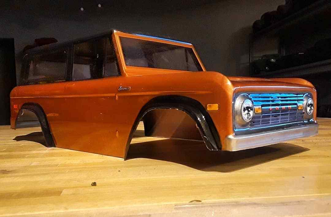 Painted ProLine classic 73 Ford Bronco Clear Body 3313-60  Vaterra Ascender