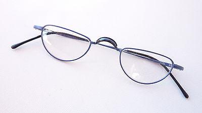 Candido Occhiali Occhiali Da Lettura Senza Bicchieri Mezza Occhiali Telaio In Metallo Sottile Blu Size S-mostra Il Titolo Originale Giada Bianca