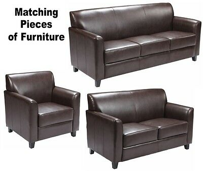 Groovy Matching Brown Leather Furniture Sofa Loveseat Chair Sofas Chairs Office Lobby Ebay Ibusinesslaw Wood Chair Design Ideas Ibusinesslaworg