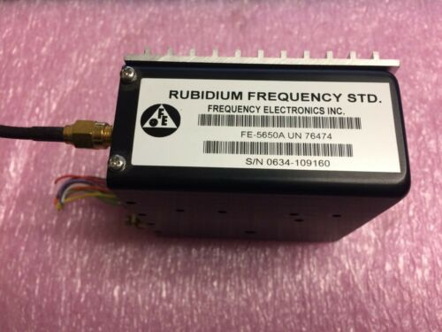 FEI FE-5650A  Rubidium Oscillator 15MHz 15V Digital EFC  with Heatsink