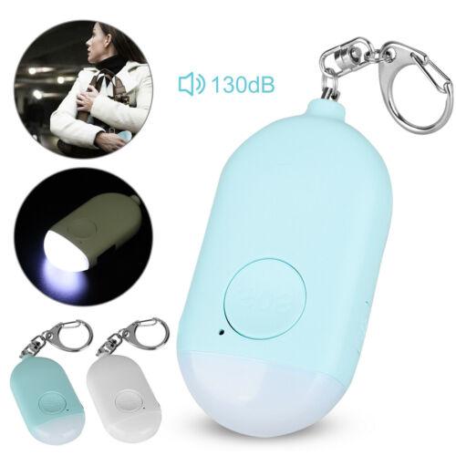 Safe Sound Personal Alarm Keychain 130db Security Emergency LED Light Night