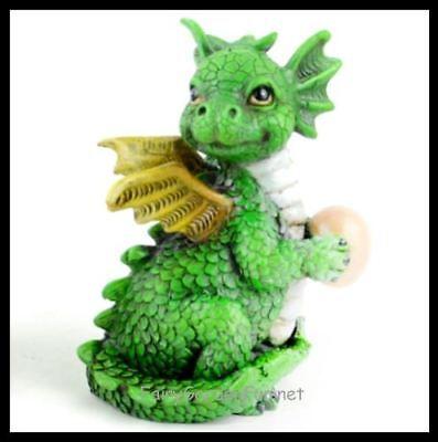 Miniature Dollhouse Fairy Garden Baby Dragon Red Figurine