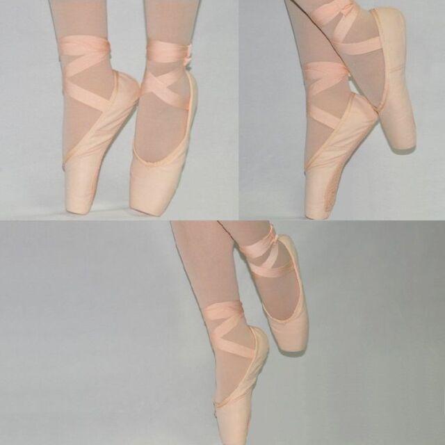 BS0001 Mädchen Frauen Spitzenschuhe Spitzentanz Ballettschuhe Schläppchen Canvas