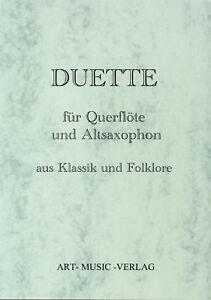 50-DUETTE-QUERFLOTE-ALT-SAXOPHON-KLASSIK-amp-FOLKLORE-NOTEN