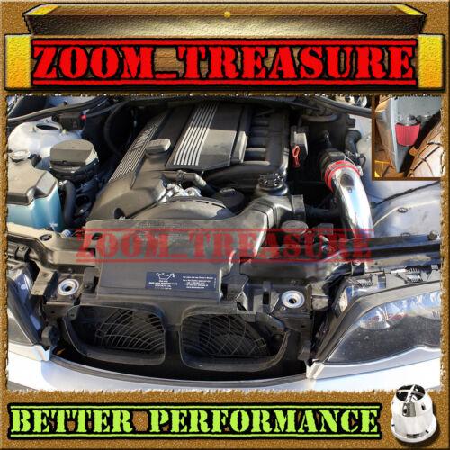 RED CHF 2001-2003//01 02 03 BMW 525 525i//530 530i i E39 I6 COLD AIR INTAKE KIT