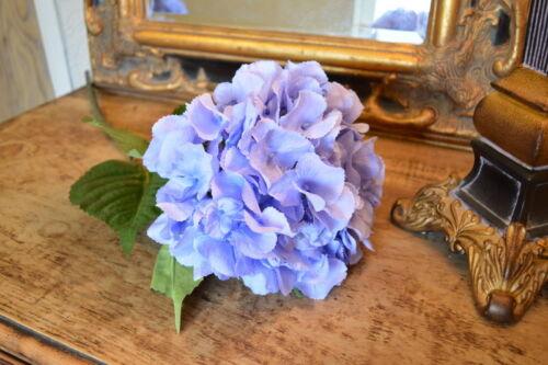 Light Blue Faux Silk Hydrangeas Individual Artificial Large Hydrangea Flowers