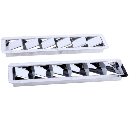2pc Stainless Steel Boat Marine 6 Louver Vent Louvered Vent Bilge Blower Exhaust