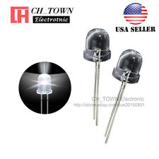 50pcs 10mm LED Water Clear White Light Emitting Diodes Round Top USA
