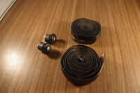 Handlebar Black Tape + Bar End Plugs Screw-in, For Vintage Bikes Peugeot, Gitane