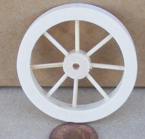 Escala 1:12 5cm de diámetro tumdee Radios Rueda De Madera Casa De Muñecas Accesorio de jardín