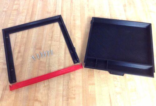 Black Under Desk Sliding Pencil Drawer Tray /& Organizer