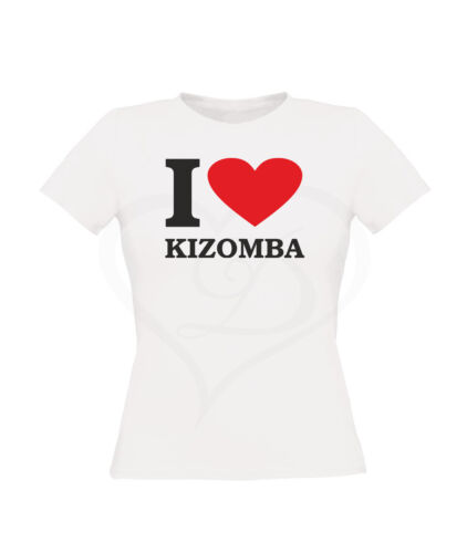 T-SHIRT I LOVE KIZOMBA WOMAN TSHIRT T SHIRT MAGLIETTA COTONE PALESTRA OFFERTA