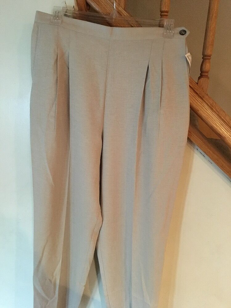 NWT Hana Studio California Women's Tan Dress Pants Sz 18