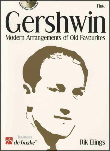 Gershwin Modern Arrangements of Old Favorites Flute Music Book /& Play-Along CD