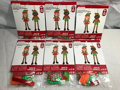 MAKES 3 ELF ORNAMENT FOAM CRAFT KIT