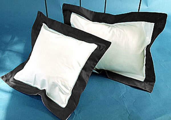 800 TC Egyptian cotton Solid Border Pillow Sham All Size /& Color