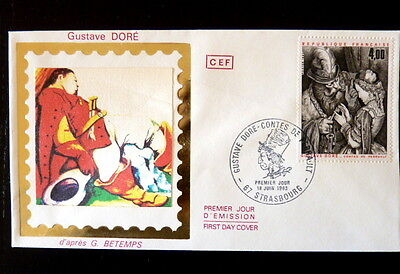 Topical Stamps France Premier Jour Fdc Yvert 2265 Contes De Perrault 4f Strasbourg 1983 Elegant And Graceful