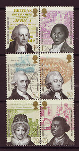 GREAT BRITAIN 2007 ABOLITION OF SLAVERY SET OF 6 FINE USED