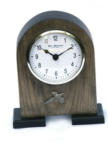 Pheasant Pewter Emblem Mantel Clock  Ideal Shooting Gift Present Award