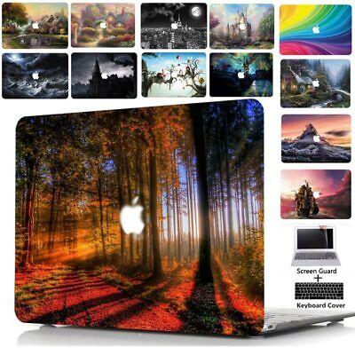 "Cool Pattern Print Hard Case KB LCD for Macbook Pro 13/""15/"" Retina Air 13/""11/""12/"""