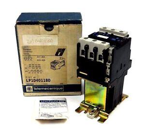 NIB-TELEMECANIQUE-LP1D4011BD-CONTACTOR-24V-575VAC-40AMP-IEC-OPTIONS-LP1-D4011BD