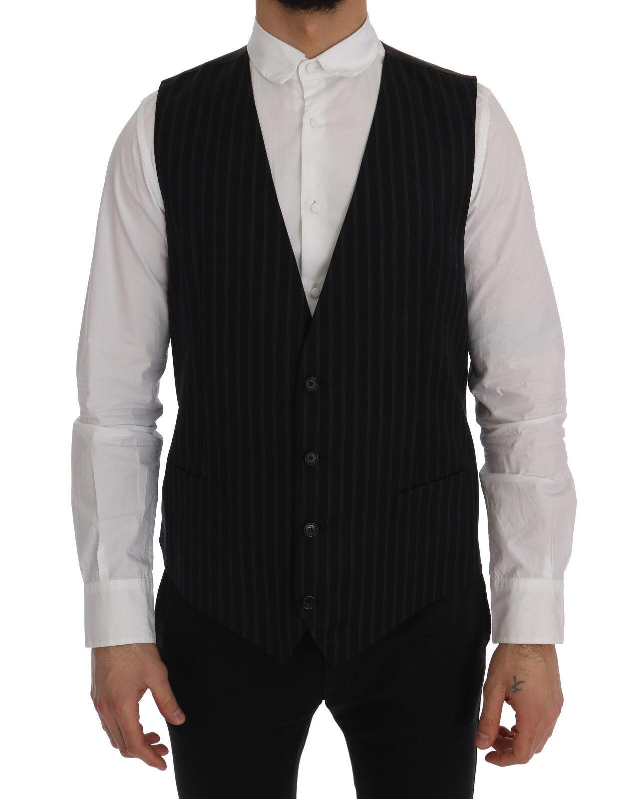 Nuevo Dolce & Gabbana Personal Chaleco Lana Farbe Negro Elástico IT52/ US42/ XL
