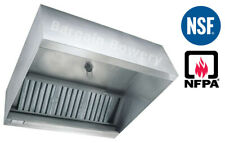10 Ft Restaurant Commercial Kitchen Box Grease Exhaust Hood Type I Hood