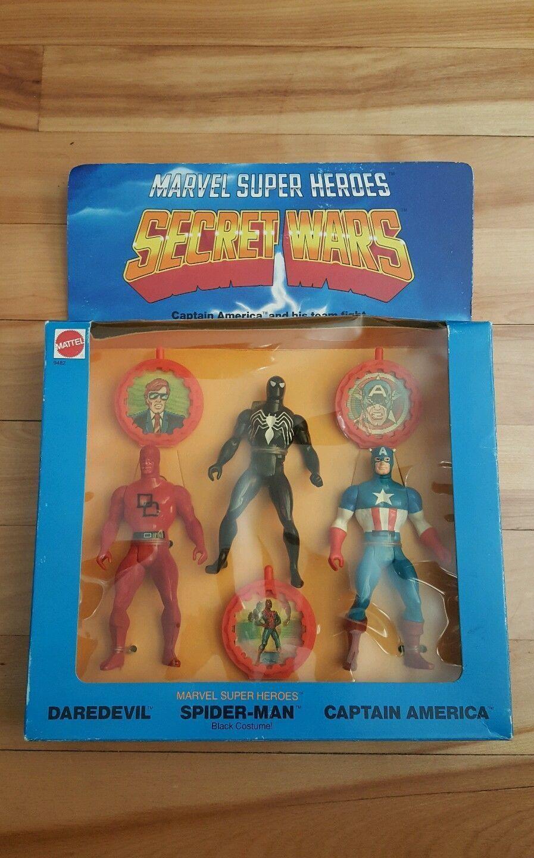 Marvel super heroes secret wars gift set set set  , daredevil,spiderman,captain america 55fb9f