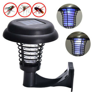 Solar-Powered-LED-Light-Pest-Bug-Zapper-Insect-Mosquito-Killer-Lamp-Garden-Lawn