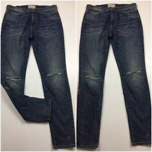 CURRENT-ELLIOTT-Womens-Sz-29-Sandy-High-Waist-Ankle-Skinny-Jeans-Distressed
