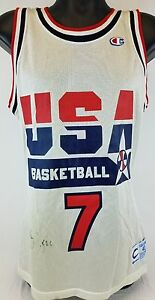 fb1d8450d45 Image is loading Larry-Bird-Signed-Team-USA-Basketball-Champion-Jersey-