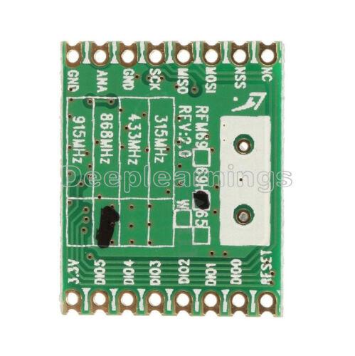 RFM69HW 868Mhz For Remote//HM 20dBm HopeRF Wireless Transceiver RFM69HW-868S2