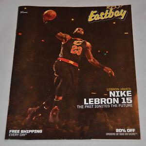 super popular ed8e3 35591 Details about MINT! Eastbay Catalog LEBRON JAMES Cover Cleveland Cavaliers  (December 2017)
