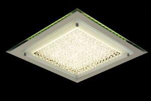 Plafoniera Quadrata Led Soffitto : Led plafoniera quadrata w metallo cromo vetro cristalli design