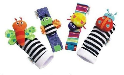 UK New 2019 Lamaze Rattle Set //Baby Sensory Toy Socks//Wrist Rattles Bracelet