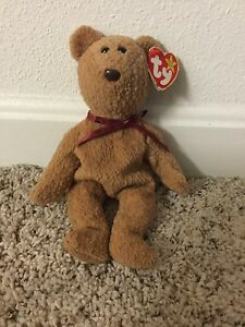 One of a Kind TY Original Beanie Baby Old Face CURLY Retired Errors ... 75bc2cb76d5