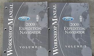 2009 FORD EXPEDITION /& LINCOLN NAVIGATOR Repair Service Shop Manual Set 2 VOLUME