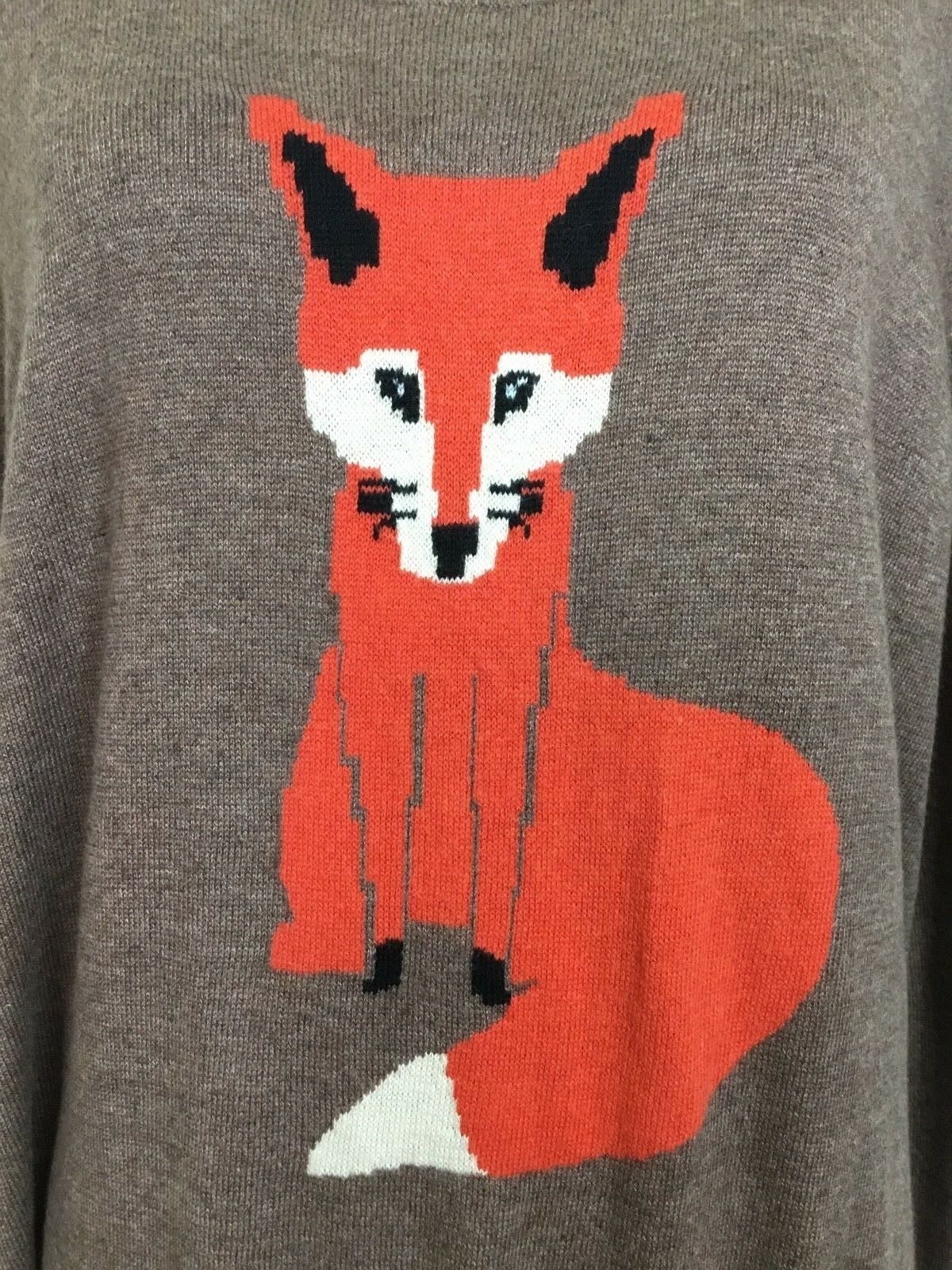 Old Navy Fox Sweater Sweater Sweater Knit Lightweight Long Sleeve Top Sold Out f83e49