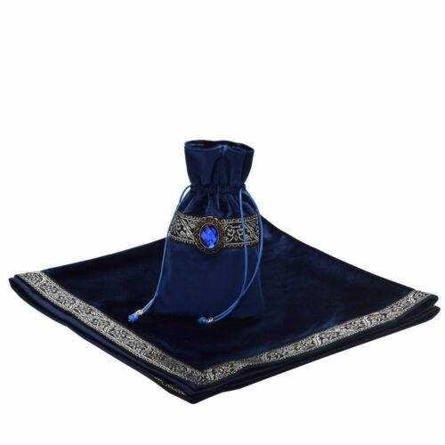 Divination CARDS Wicca Square Tablecloth Pouch Altar Tarot Table Cloth//Bag Decor