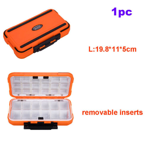 Sealed Waterproof Fishing Tackle Tray ABS Plastic Double Sided Lure Storage Box