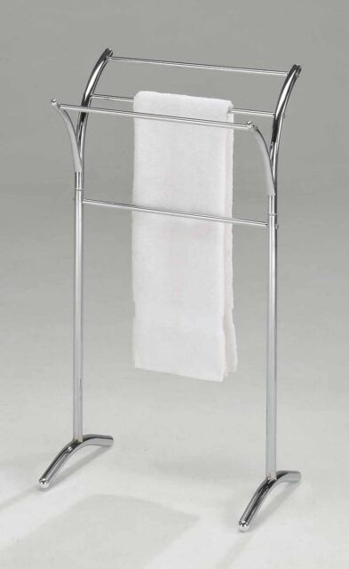 Kings Brand Furniture Chrome Finish Towel Rack Stand  ~New~