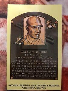 Photo Martin Dihigo Postcard Baseball Hall of Fame Induction Plaque