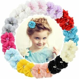 Weddings Flower Hair Clips Solid Color Newborn Baby Hair Barrette Accessory 1 Pc